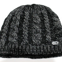 The North Face Women's Fuzzy Cable TNF Black/Grey Beanie Hat OS