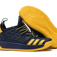 Adidas Harden Vol. 2 Navy/Yellow Basketball Shoes US7-11.5
