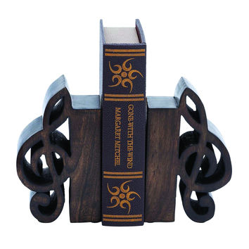 Book End Pair Adorned With Rich Finish