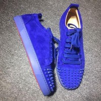 PEAPUX5 Cl Christian Louboutin Low Style #2050 Sneakers Fashion Shoes