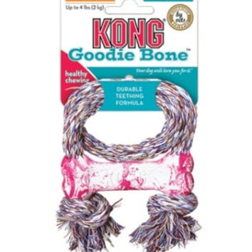 Kong Puppy Goodie Bone With Rope - X-Small