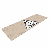 "Jackie Rose ""Hollows"" Tan Beige Yoga Mat"