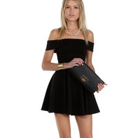 Black Leading Lady Skater Dress