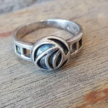 Vintage Kit Heath Ring , Sterling Silver , Celtic Design Ring , Gifts for Her
