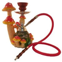 "Amazon.com: 10"" Mushroom Garden 1-hose Hookah: Health & Personal Care"