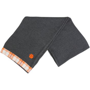 Clemson Tigers Waffle Knit Infinity Scarf - Charcoal