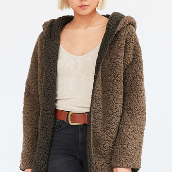 Ecote Cozy Reversible Hooded Jacket - Urban Outfitters