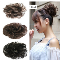 Fashion New Arrival Hotsale Free Style Hair Curler Wig Puff Bud Elastic Hairbands Hair Ties/ Women Hair accessories = 5658490625