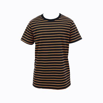 Steven Stripe T-Shirt (Black & Orange)