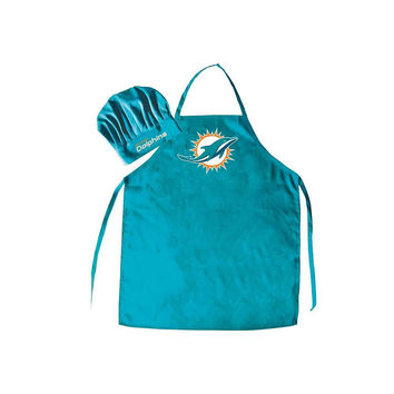 Miami Dolphins NFL Barbeque Apron and Chef's Hat