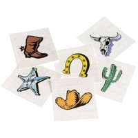 US Toy Western Temporary Tattoos