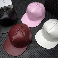 4 colors PU Leather Hats Graffiti Adjustable Snapback Baseball Cap Retro Hat Hiphop Sports Lovers Shade Hats High Quality DHL Shipping
