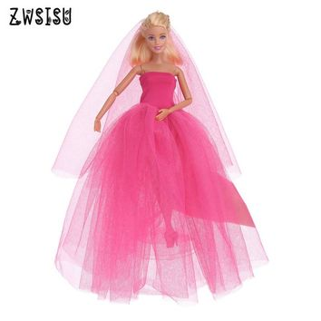 The 2018 new Handmade Party Doll's beautiful Dress Clothes Gown For Barbiee are best baby's christmas gifts b588
