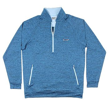 Longshanks 1/4 Performance Pullover in Midnight Blue by Country Club Prep
