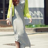 High-Low Hem Sleeveless Long Dress For Women