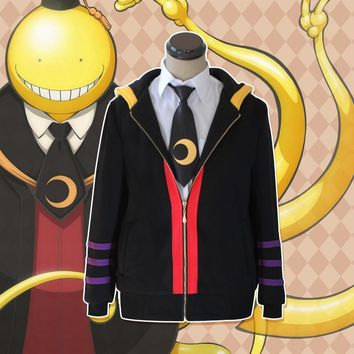 Anime Assassination Classroom Korosensei Cosplay Costumes Spring and Autumn Hooded Hoodies Daily Casual Jacket
