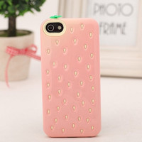 Cute Fancy Lovely Candy Strawberry Back Case Cover For Apple iPhone 4 4G 4S 5 5G