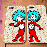 dr seuss Thing 1 and thing 2 Couple for iPhone 4 / 4S / 5 / 5S / 5C Case, Samsung Galaxy S3 / S4 / S5 case