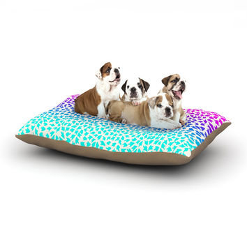 "Sreetama Ray ""Ombre Arrows"" Blue Pink Dog Bed"