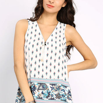 Multi Patterned Sleeveless Top