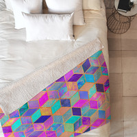 Elisabeth Fredriksson Pretty Cubes Fleece Throw Blanket