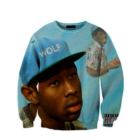 Tyler The Creator Sweatshirt Crewneck Fan Art All Over Style Print Sweatshirt