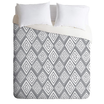 Heather Dutton Diamond In The Rough Grey Duvet Cover