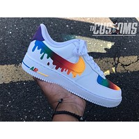 Custom Nike Air Force 1 Drip rainbow