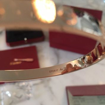 Cartier Pink Gold Love Bracelet New Boxed Sold Out 18