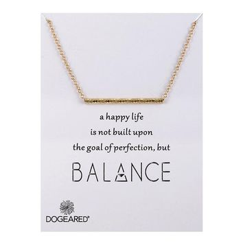Simple Strip Pendant Card Alloy Clavicle Pendant Necklace 171208