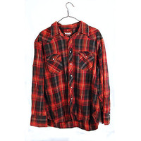 WRANGLER Vintage Red Oversize Western Flannel by TheBeardedBee
