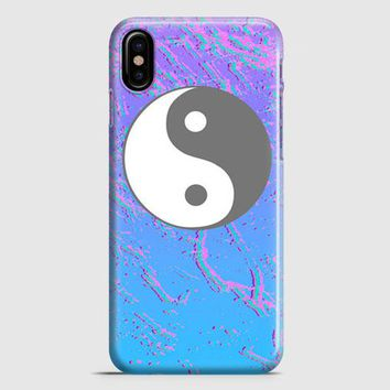 Vaporwave Yin Yang iPhone X Case