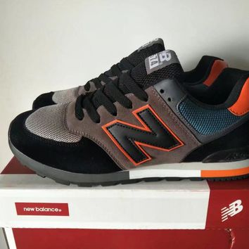 new balance 574 sport casual unisex n words multicolor retro sneakers couple running shoes-3