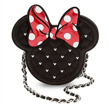 Disney Minnie Mouse Icon Crossbody Bag by Loungefly Bow New