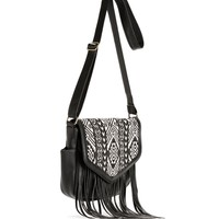Black Tribal Satchel