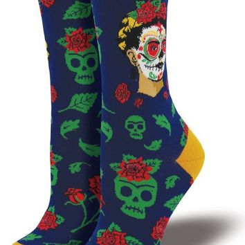 Dia De Los Frida Women's Crew Socks