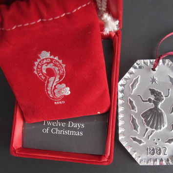 1992 Waterford glass Christmas ornament decoration