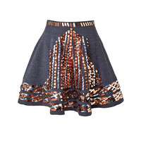 Kenzo - Embroidered Wool Skirt