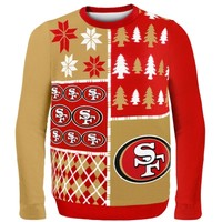 San Francisco 49ers Scarlet Busy Block Ugly Sweater