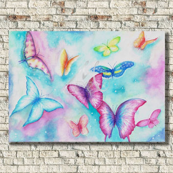 Fantasy Butterfly Print of my original watercolor painting