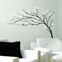 Tree Branches Flowers Huge Wall Mural Decal Sticker