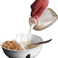 Keep it Crunchy Separator Food Bowl for Cereal Salsa Chips Fries & More!