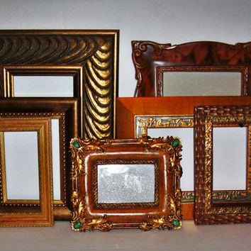 7 Shades of Copper, Brown & Gold Picture Frames for Gallery Wall, Wedding Decor, Nursery Decor