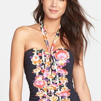 Women's Seafolly 'Romeo Rose' Bandeau Tankini Top