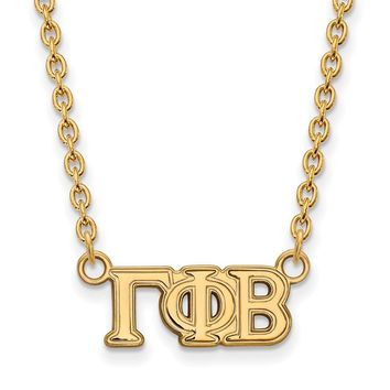 14K Plated Silver Gamma Phi Beta Small Necklace