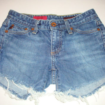 AG Adriano Goldschmied CLUB jeans denim shorts  frayed hem Cut off  cutoffs size 25