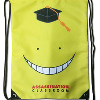 Assassination Classroom - Smiling Koro Sensei Drawstring Backpack