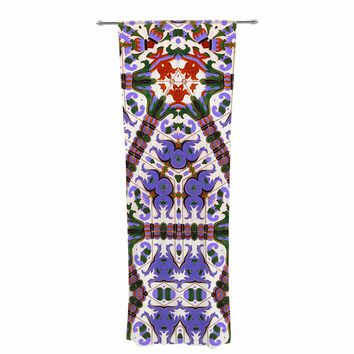 "Philip Brown ""Spanish Tile Kaleidoscope"" Purple Red Geometric Pattern Digital Photography Decorative Sheer Curtain"