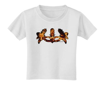 Fire Masquerade Mask Toddler T-Shirt by TooLoud