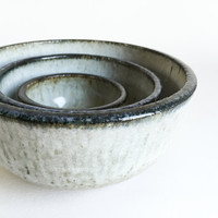 NESTING BOWL SET ceramic, pottery, soup, noodle, mixing, cereal, ramen, pho, salad, pasta, chili, rice, bowls